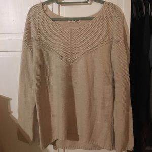 Pink Rose cream sweater, size xl